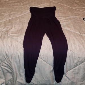 Pants - Navy blue Strapless Jumpsuit